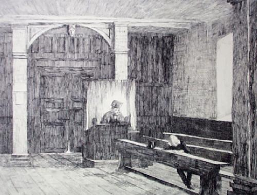 Boy Kept in After School (Restrike Etching) by Anonymous