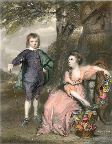 Geo. Viso. Malden & Lady Capel (Restrike Etching) by Sir Joshua Reynolds