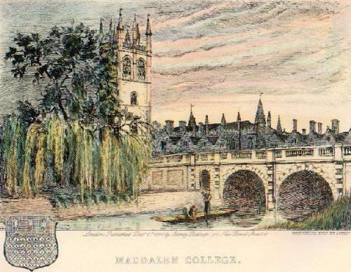 Magdalene College (Restrike Etching) by Frederick Miller