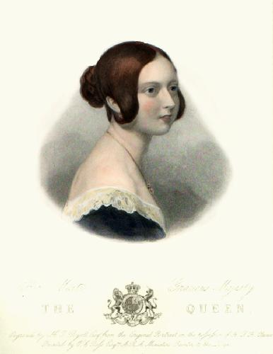 Queen Victoria (Restrike Etching) by Sir William Charles Ross