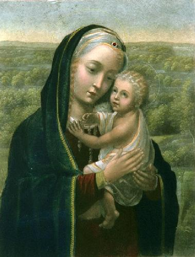 Madonna & Child (Restrike Etching) by Jan Hemling