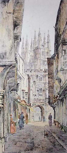 Canterbury 1885 (Restrike Etching) by Charles Watson