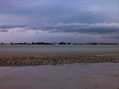 Beach at dusk, West Wittering Beach, UK by Assaf Frank