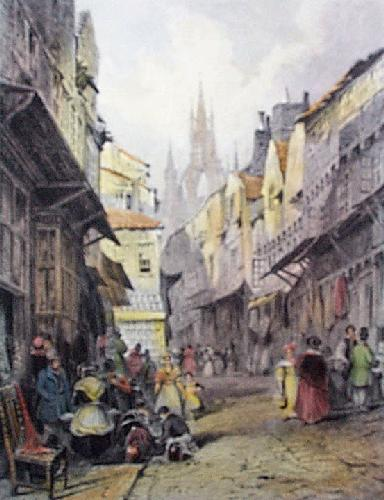 Newcastle, Castle Garth (Restrike Etching) by Thomas Miles Richardson