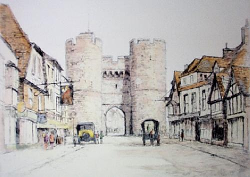 Westgate Canterbury (Restrike Etching) by Anonymous