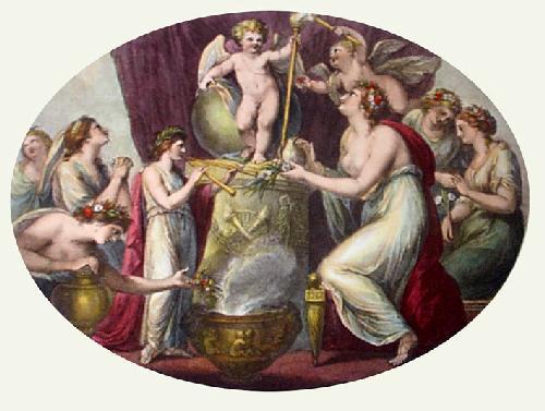 Shrine of Cupid (Restrike Etching) by Giovanni Battista Cipiriani