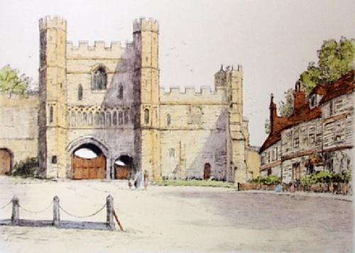 Battle Abbey (Restrike Etching) by Anonymous