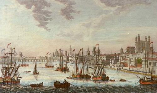 Tower with Bridge, City of London (Restrike Etching) by Thomas Bowles