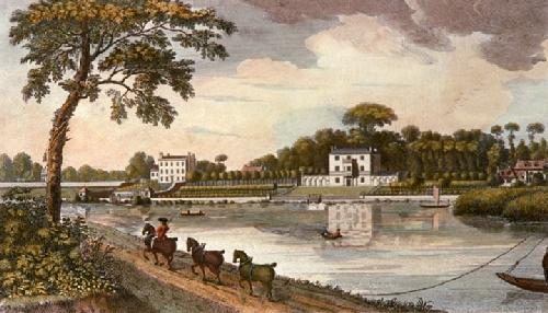 Dr Battys House, Twickenham (Restrike Etching) by Anonymous