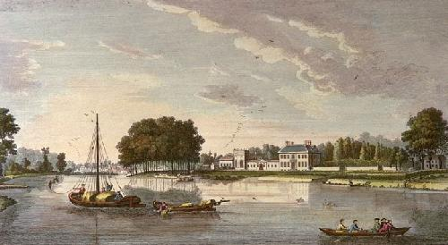 Pitts House, Twickenham (Restrike Etching) by Heckell