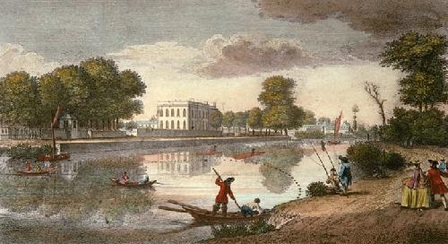 House of Moses Hart (Restrike Etching) by Heckell