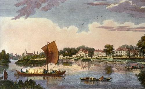 Twickenham (Perspective View) (Restrike Etching) by Heckell