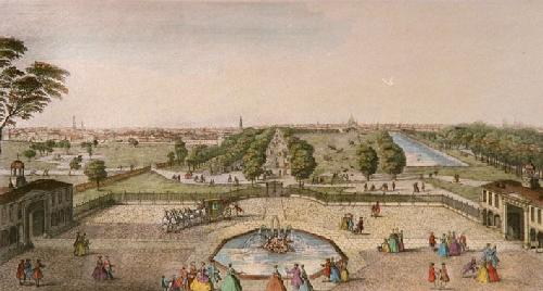 St James Park (Restrike Etching) by Jacques Rigaud