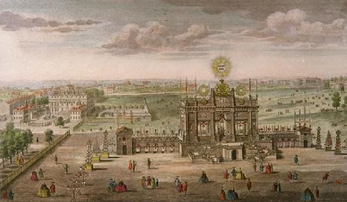 Green Park, General Peace Structure (Restrike Etching) by Anonymous