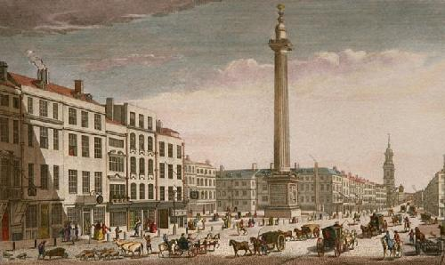 Monument of London 1666 (Restrike Etching) by Thomas Bowles
