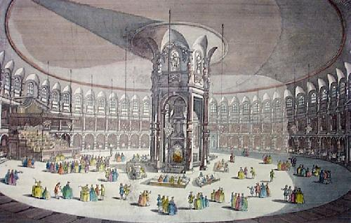 Rotunda in Ranelagh Gardens (Restrike Etching) by Thomas Bowles