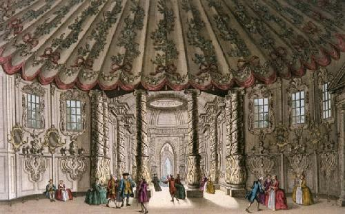Vauxhall Gardens (Music Room) (Restrike Etching) by Wale