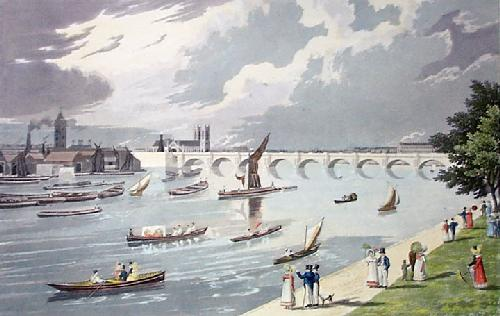 Waterloo Bridge (Restrike Etching) by Robert Havell