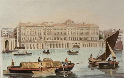 Somerset House (Restrike Etching) by Robert Havell