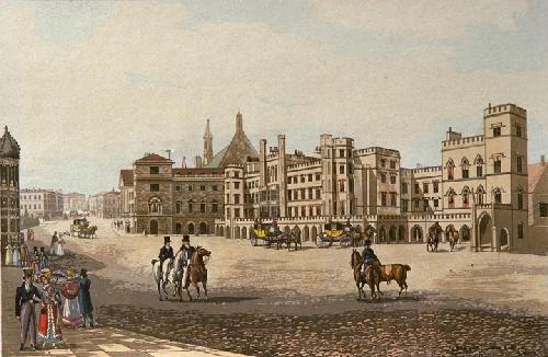 House of Lords and Commons (Restrike Etching) by Robert Havell