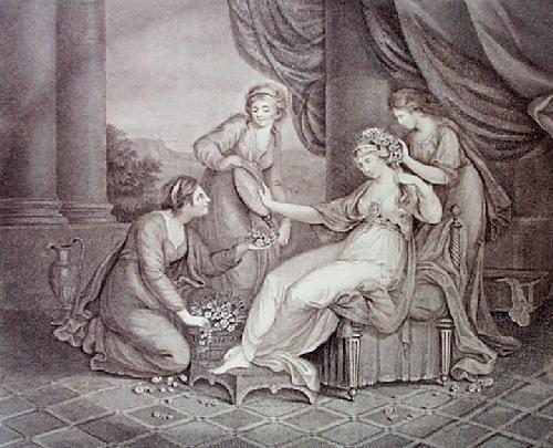 Cleopatra (Restrike Etching) by Angelica Kauffmann