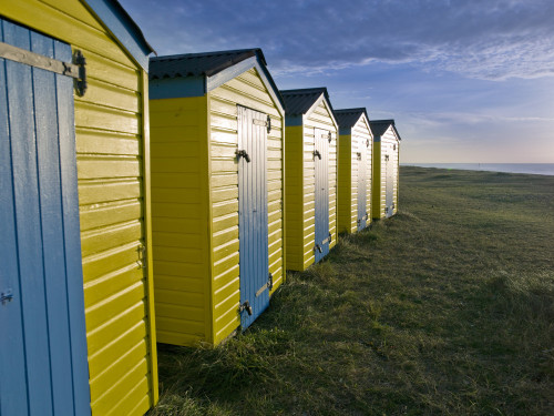 Beach Huts at Littlehampton by Assaf Frank