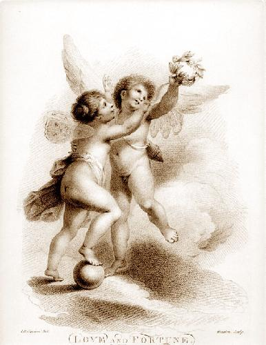 Love & Fortune (Restrike Etching) by Giovanni Battista Cipiriani