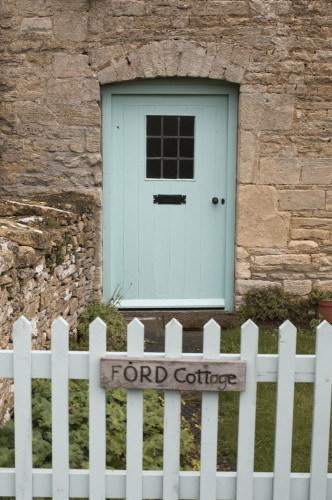 Cottage gate and door, Cotswold by Assaf Frank