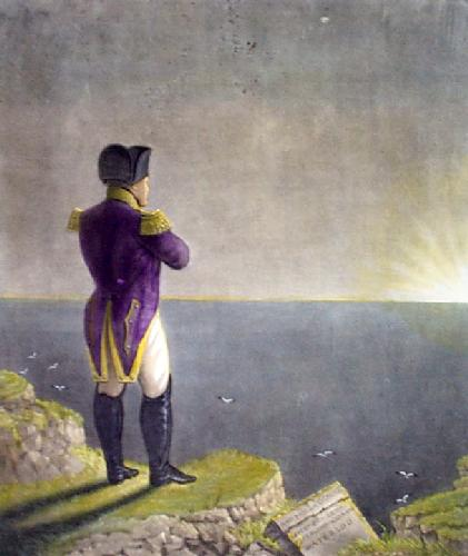 Napoleon Musing at St Helena (Restrike Etching) by Benjamin Robert Haydon