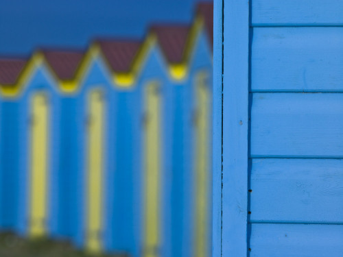 Beach Huts, West Sussex, UK by Assaf Frank