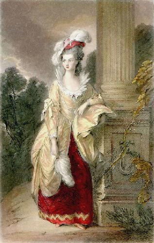 Hon Mrs Graham (Restrike Etching) by Thomas Gainsborough