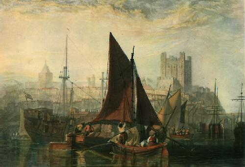 Rochester on the River Medway (Restrike Etching) by Joseph Mallord William Turner