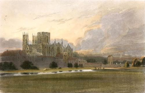 York Minster (Restrike Etching) by Thomas Girtin