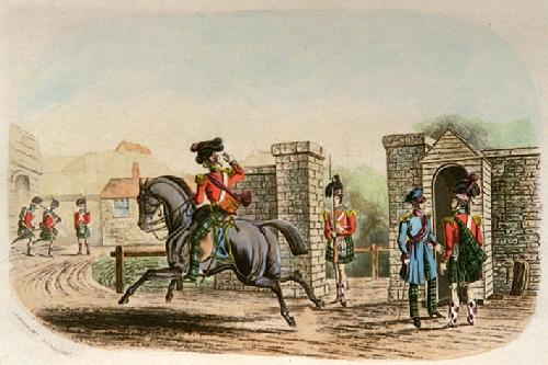 On Duty (Restrike Etching) by Charles Newhouse