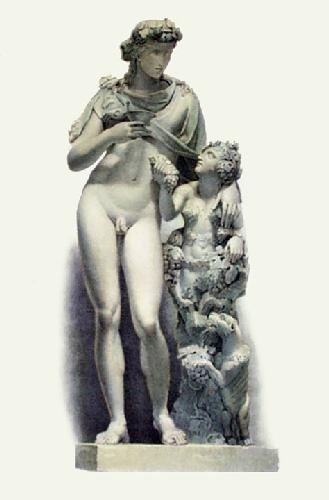 Statue - Pl. L (Restrike Etching) by Edward Henry Corbould