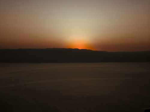 Dragot cliffs with the view of the Jordan valley, sunrise by Assaf Frank