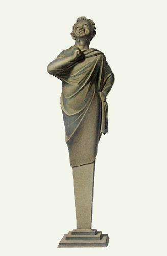Statue - Pl. XXVIII (Restrike Etching) by Edward Henry Corbould