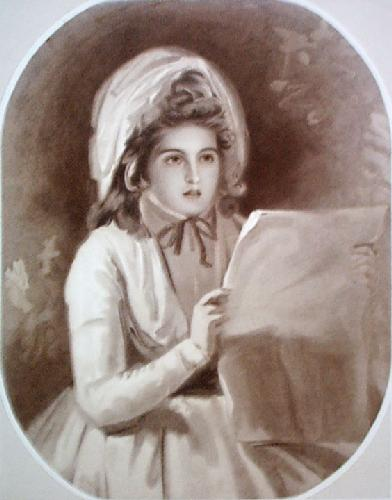 Lady Hamilton (Restrike Etching) by George Romney