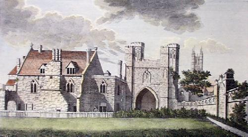 Canterbury-Abbey St.Augustine (Restrike Etching) by Anonymous