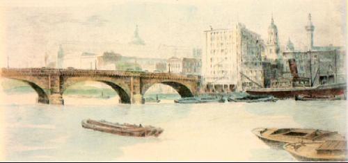 London Bridge (Restrike Etching) by Anonymous