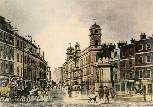 Northumberland Avenue (Restrike Etching) by Anonymous