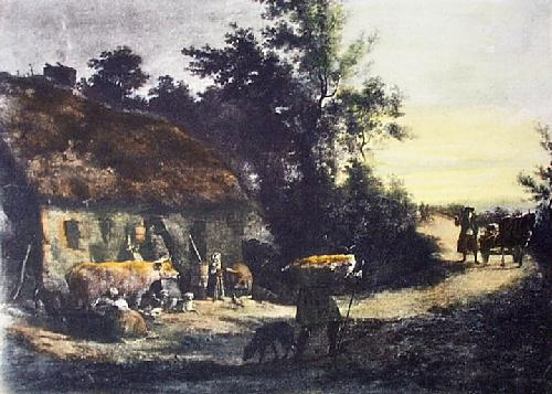 Old Irish Farmhouse (Restrike Etching) by W.W. Ashford