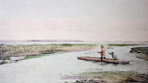 Duck Shooting (Restrike Etching) by Anthony de Bree