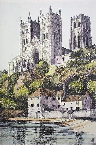 Durham Cathedral (Small) (Restrike Etching) by Anonymous