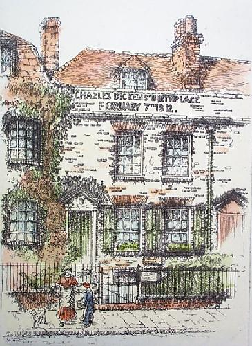 Dickens Birthplace (Restrike Etching) by Anonymous