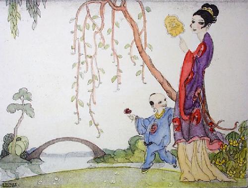 Oriental Bridge (Restrike Etching) by Stanley Woollett