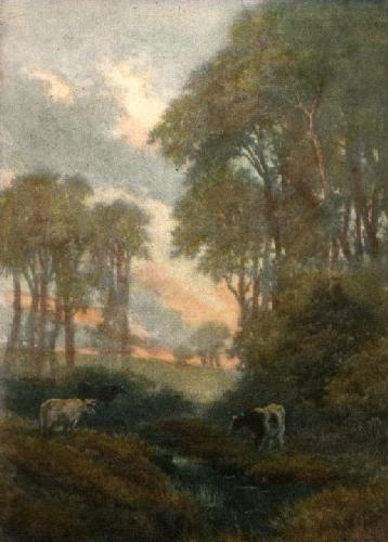 Peaceful Evening (Restrike Etching) by Anonymous