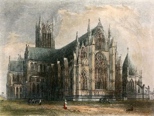 Lincoln Cathedral (Restrike Etching) by Anonymous