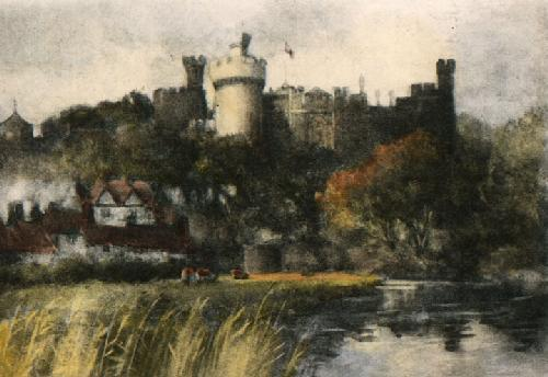Arundel Castle (Restrike Etching) by Francis Brown Tighe