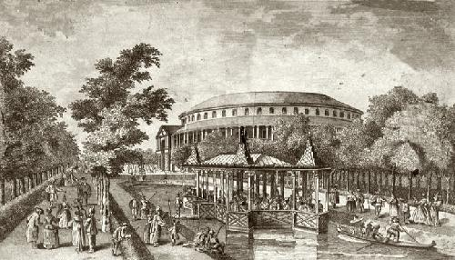 Ranelagh Gardens Masquerade (Restrike Etching) by Giovanni Canaletto
